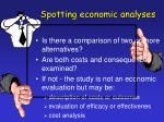 spotting economic analyses