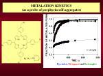 metalation kinetics as a probe of porphyrin self aggregates