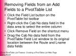 removing fields from an add fields to a pivottable list