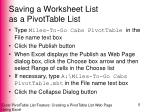 saving a worksheet list as a pivottable list2