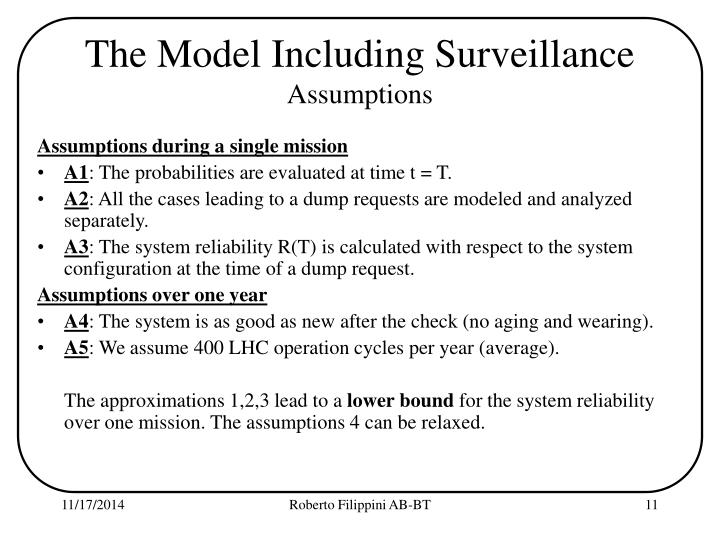 The Model Including Surveillance