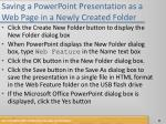 saving a powerpoint presentation as a web page in a newly created folder1