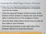 viewing the web page using a browser1