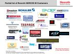 partial list of rexroth sercos iii customers
