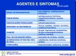 agentes e sintomas1
