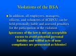 violations of the bsa1