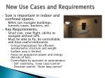 new use cases and requirements
