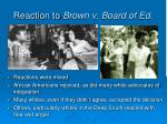 reaction to brown v board of ed