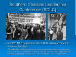 southern christian leadership conference sclc