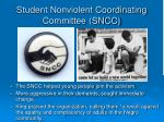student nonviolent coordinating committee sncc
