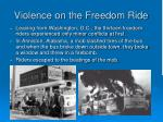 violence on the freedom ride