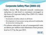corporate safety plan 2003 13