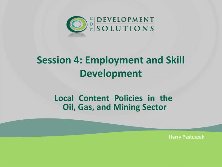 session 4 employment and skill development n.