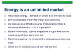energy is an unlimited market