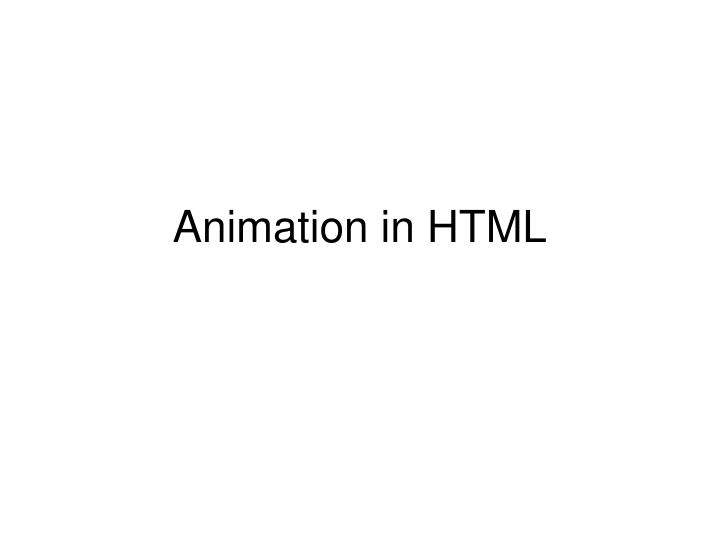 animation in html n.