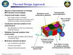 thermal design approach