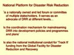 national platform for disaster risk reduction