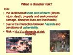 what is disaster risk