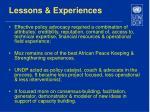 lessons experiences