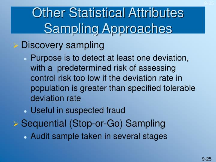 Other Statistical Attributes Sampling Approaches
