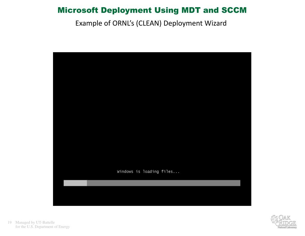 PPT - Microsoft Deployment Using MDT and SCCM PowerPoint