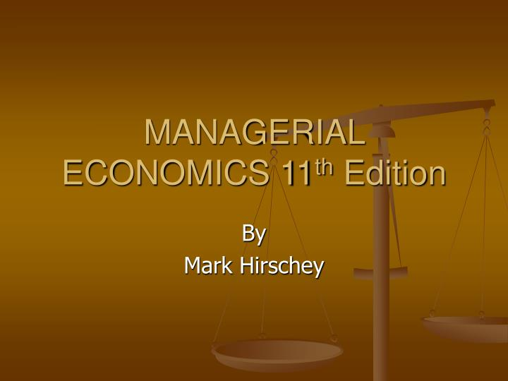 managerial economics 11 th edition n.