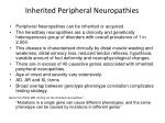 inherited peripheral neuropathies