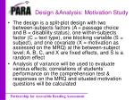design analysis motivation study1