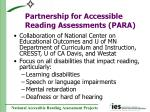 partnership for accessible reading assessments para