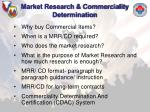 market research commerciality determination