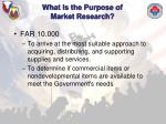 what is the purpose of market research