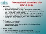 international standard for hiv 2 rna