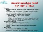 second genotype panel for hiv 1 rna