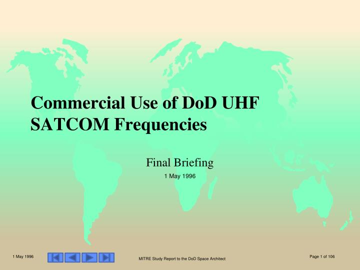 commercial use of dod uhf satcom frequencies n.