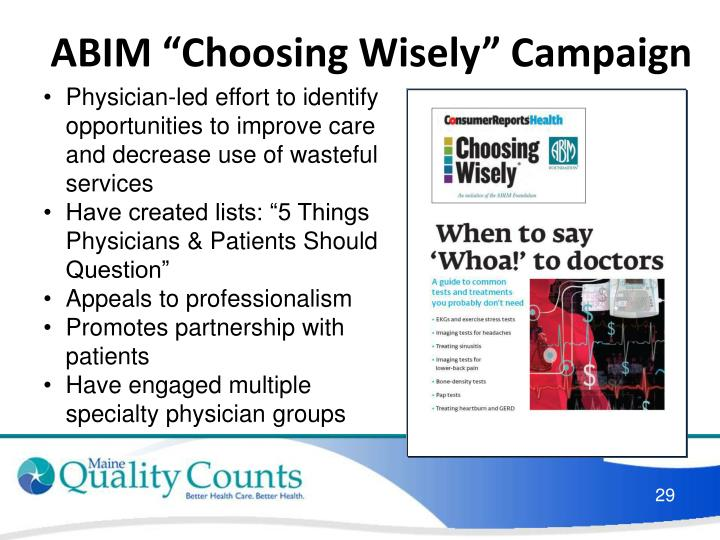 "ABIM ""Choosing Wisely"" Campaign"