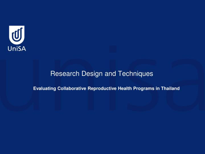 research design and techniques n.