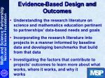 evidence based design and outcomes