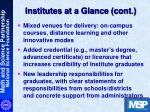 institutes at a glance cont