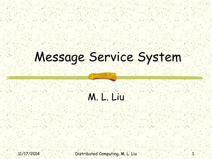 message service system n.