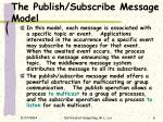 the publish subscribe message model