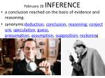 february 26 inference