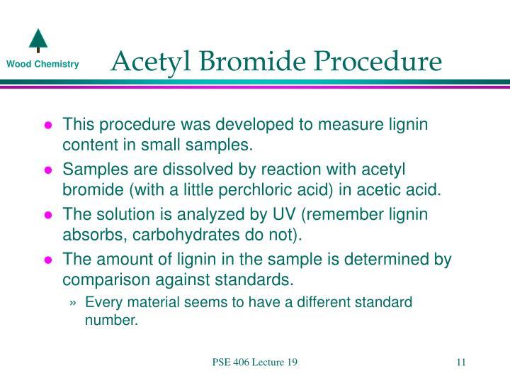 Acetyl Bromide Procedure