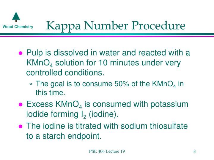 Kappa Number Procedure