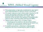 mwl milled wood lignin