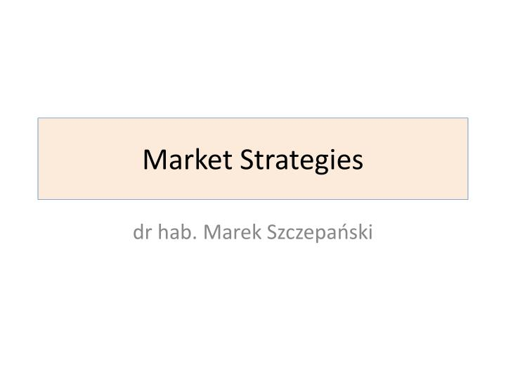 market strategies n.