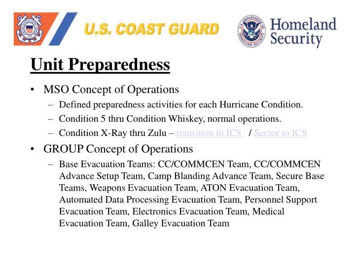 Unit Preparedness
