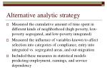 alternative analytic strategy