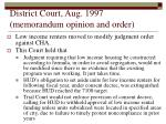 district court aug 1997 memorandum opinion and order