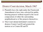 district court decision march 1967