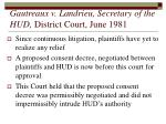 gautreaux v landrieu secretary of the hud district court june 1981